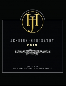 Jenkins-Haraszthy Wine Label Design and Illustration