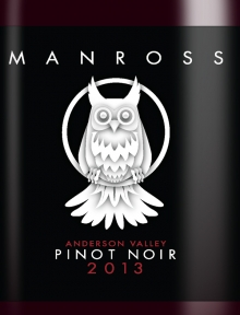 Manross Wine Label Design and Illustration